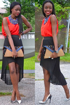 Aldo necklace - Zara shoes - Aldo purse - BCBG skirt