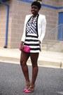 Bcbg-max-azria-blazer-jcrew-bag-asos-shorts-macys-blouse-valentino-heels