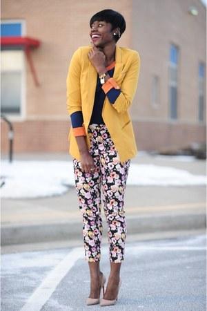 OASAP blazer - OASAP sweater - Aldo bag - H&M pants - Christian Louboutin heels