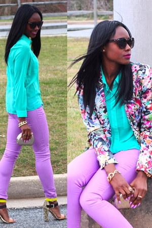 Zara blazer - Forever 21 jeans - Forever 21 shirt - Zara heels