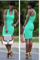 BCBG dress - BCBG bag - Zara sandals