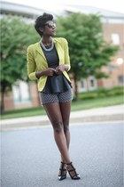 bcbg max azria blazer - Forever 21 shirt - Macys shorts - H&M accessories