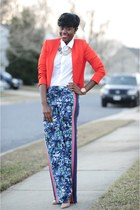 banana republic necklace - Zara blazer - H&M shirt - Loft pants