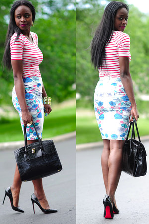 H&amp;M skirt - H&amp;M shirt - Aldo purse - Christian Louboutin pumps