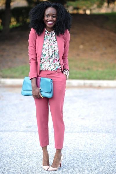 Aldo bracelet - H&M blazer - Zara blouse - H&M pants - Christian Louboutin heels