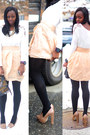Nude-platforms-top-shop-shoes-forever-21-shirt-aldo-bag-hm-skirt