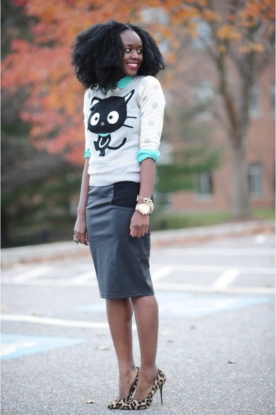 Michael Kors watch - Forever21 sweater - Forever21 shirt - dune heels
