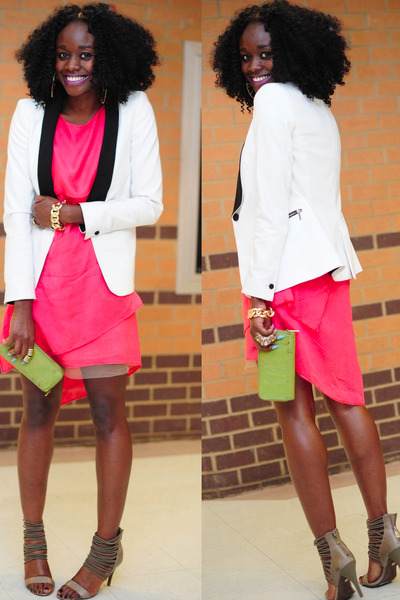 Zara blazer - BCBG dress - BCBG sandals - Aldo wallet