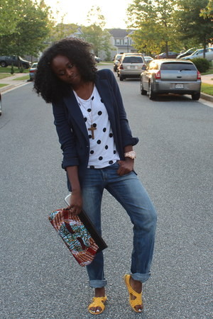 hm sandals - hm jeans - hm shirt - Aldo purse
