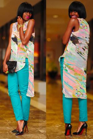 H&M top - Christian Louboutin shoes - LAMB purse - Zara pants
