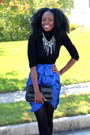 Bcbg-necklace-bcbg-skirt-forever-21-top-zara-heels