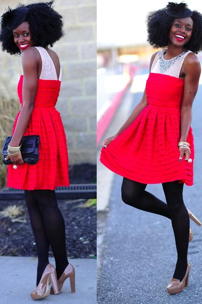Topshop shoes - BCBG dress