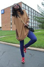 H-m-jeans-hm-purse-zara-shorts-poncho-hm-top-michael-kors-watch