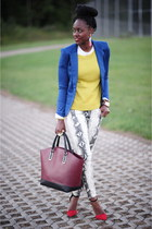 Zara shoes - Forever 21 sweater - Sheinside blazer - Zara bag - Sheinside pants