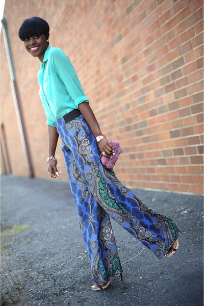 BCBG purse - Forever 21 shirt - Zara pants - BCBG sandals