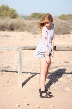 Zara shoes - River Island shorts - blouse