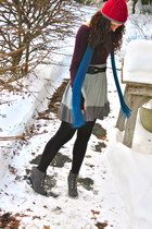 knit Gap hat - lace-up wedge Chinese Laundry boots - Forever 21 coat