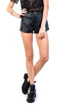 Wicked High Waist Leather Shorts