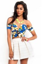 Blue Me Away Off Shoulder Top
