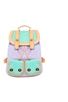 Tri-Color Pastel Leatherette Backpack