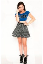blue JC Fits top - 36 Point 5 skirt