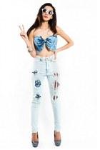 high waisted Slimskii jeans - Slimskii bra