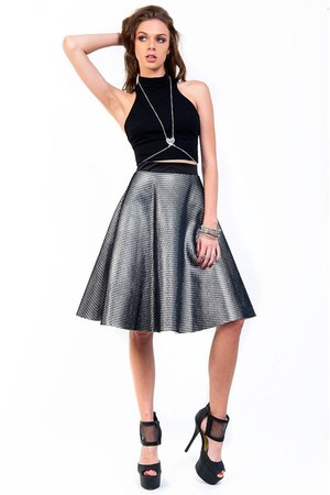 silver Slimskii skirt - black Slimskii top