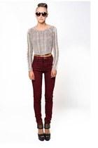 crimson 36 Point 5 jeans - beige 36 Point 5 sweater