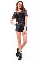 black Slimskii top - black Slimskii shorts - silver Slimskii bracelet