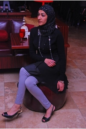 Bellissima dress - Talula sweater - leggings - shoes - necklace - bracelet