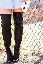 off white cat Nordstrom bag - black thigh high cicihot boots