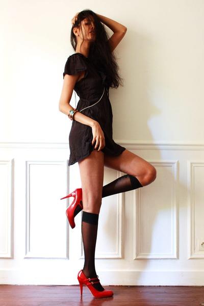 American Apparel socks - Miu Miu heels