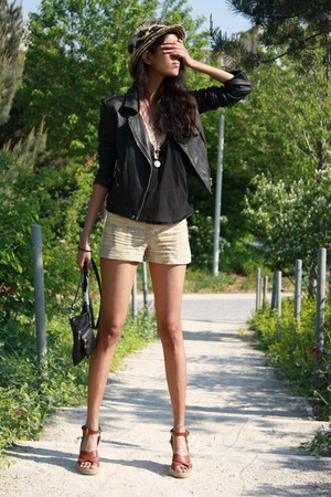 YSL shoes - IRO jacket - Carolina Herrera shorts