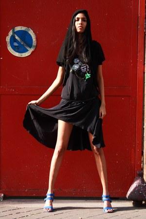 Abraham Will dress - Zara heels - Kookai top - Marc Jacobs belt - Little shilpa