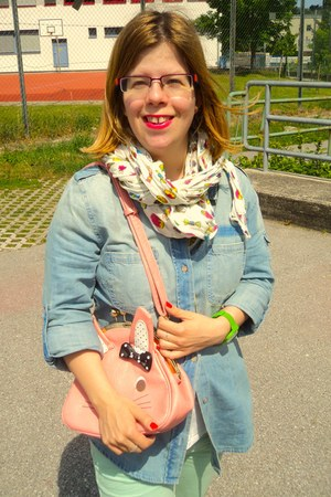 mint Zara jeans - jean Forever 21 blouse