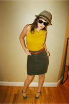 American Apparel dress - American Apparel skirt - belt - hat