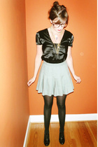 shirt - skirt - tights - forever 21 shoes