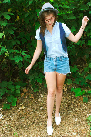 H&M hat - aa vest - shirt - Levis shorts