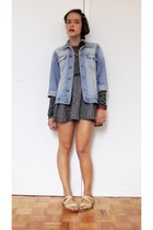 sky blue denim SKHB Surf Riders jacket - dark gray Zara shirt
