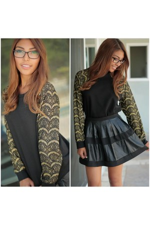 black SBH skirt - black SBH sweater