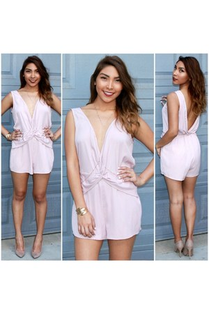light pink SBH romper