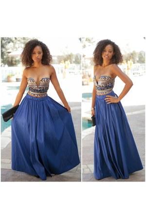 blue maxi skirt SBH skirt