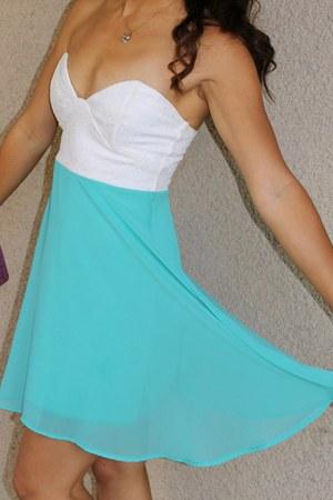 teal Solemio dress