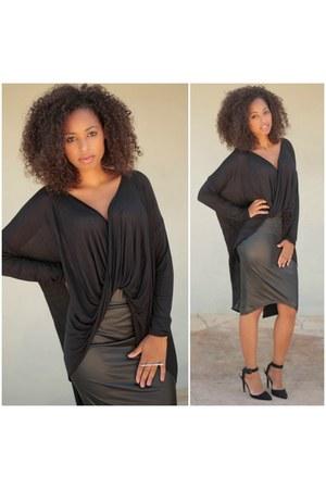 black SBH top - black SBH skirt