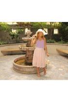 light pink SBH skirt - light purple SBH top