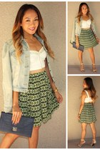 SBH skirt - FCUK jacket - SBH top