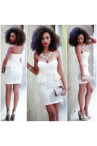 eggshell SBH dress
