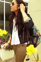 jean jacket Gap jacket - aviators Ralph Lauren sunglasses - Marshalls blouse