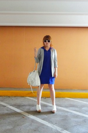 racerback dress - Uniqlo blazer - Guess bag