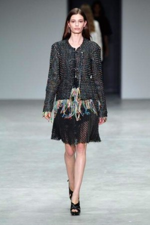 frayed woven Calvin Klein Collection jacket